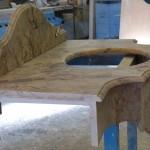 Plan vasque marbre Sarrancolin ajustage en onglet de la retombée3_1